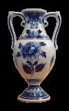 Vase mit Doppelhenkeln aus Delfter Keramik